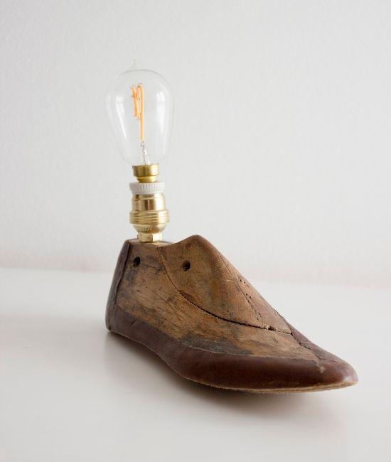 Lámpara Zapato Madera